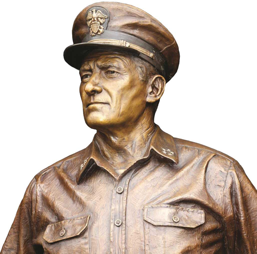 Caswell Bronze sculpture of Admiral Nimitz