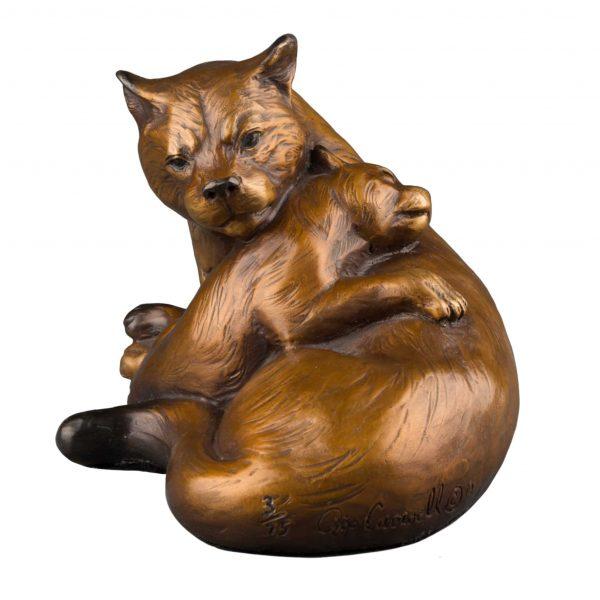 Mountain madonna bronze cougar sculpture