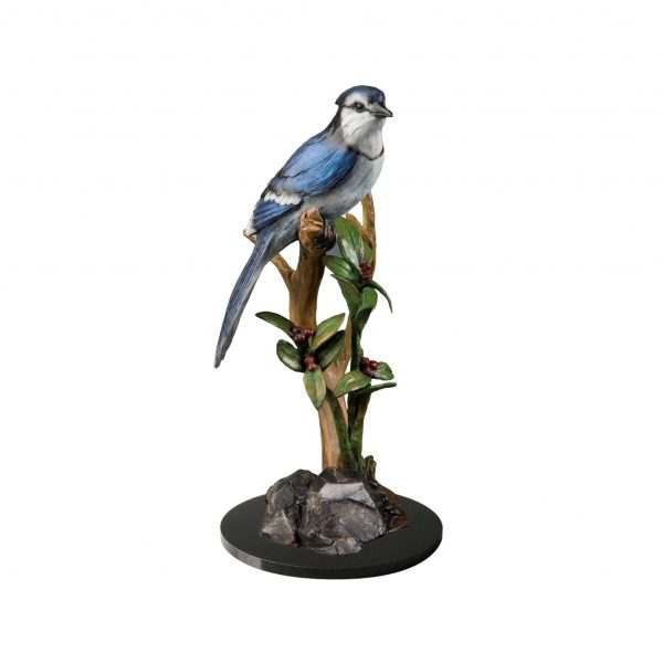 springtime melody blue bird bronze sculpture caswell