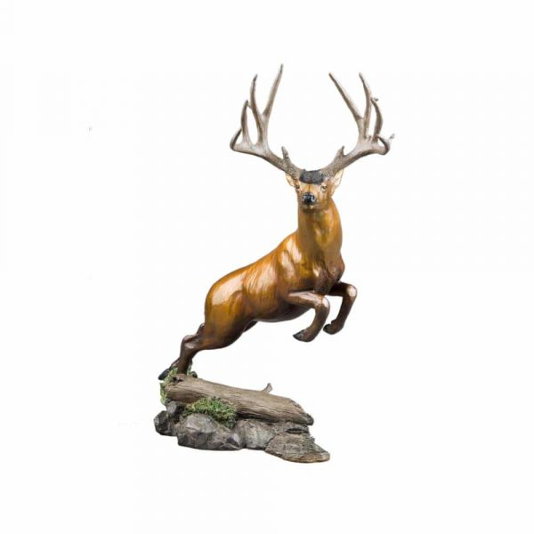 mule deer sculpture, mule deer statue, mule deer bronze, mule deer figure, figurine, mule deer jumping, mule deer rip caswell, mule deer, woodland dash, bronze, sculpture, caswell sculpture, rip caswell, oregon, mule deer, mule deer foundation, oregon, monument, miniature, limited edition