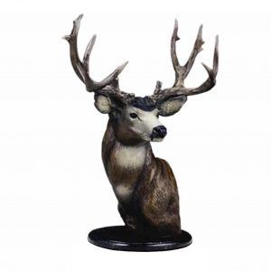 caswell sculpture mule deer bust bronze