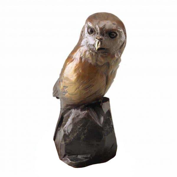 caswell sculpture dots pygmy owl bronze