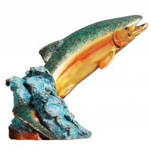 splash dance fish bronze caswell sculpture