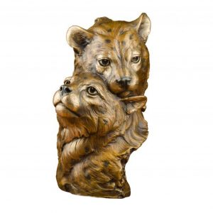 cheetah cubs bronze sculpture caswell sculpture