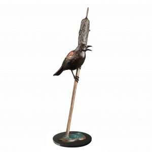 the soloist red wing blackbird caswell sculpture bronze