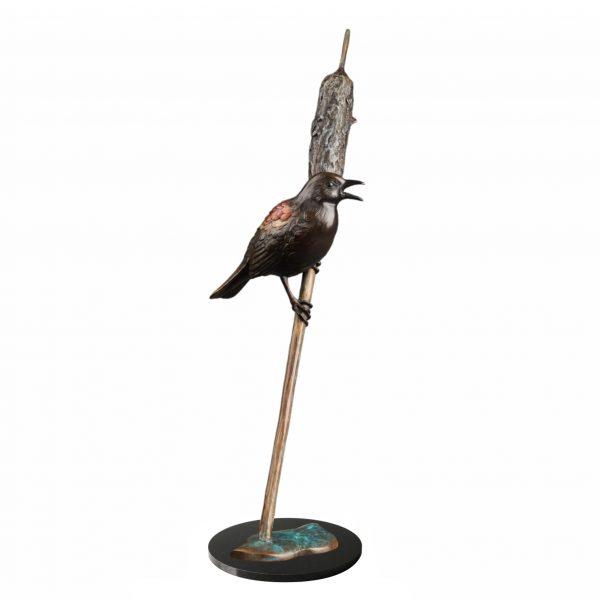 the soloist red wing blackbird caswell sculpture bronze