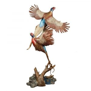 pheasant, pheasants, flushing pheasants, pheasant sculpture, pheasant statue, bird, grouse, pheasant artwork, royal flush, birds, bird, bird statue, bird sculpture, Wildlife, rip caswell, Alison caswell, caswell sculpture, sculpture, bronze, statue, statuary, fine art, art, metal art, brass art, copper, foundry, firebird bronze, mammal, home décor, collection, traditional, modern, contemporary, troutdale, Oregon, Columbia river highway, Columbia gorge, limited edition, limited art, rare art, Bronze, statue, Caswell, sculpture, casting, art, fine art, monument, memorial, lost wax, bronze sculpture, bronze statue, public art, statuary, art investment, valuable art, art work, collectable art, limited edition, rare art, patron of the arts, tax free art, art collector, home décor, awards, corporate art, art foundry, bronze foundry, corporate awards, university mascots, campus sculpture, outdoor art, decorating with art, outdoor sculpture, Rip Caswell, Alison Caswell, Caswell sculpture, Troutdale art, historical art, contemporary art, western art, realism art, impressionistic art, realistic art, sculptor, sculptors, top sculptors, award winning art, Jackson hole art, northwest art, northwest artist, Oregon artist, Oregon sculptors, brass, figurines, rare, animals, conservation, national geographic, wildlife, endangered, red list, saving species, human sculpture, portrait, memorial, urns, carving, contemporary, modern, traditional, collection, abstract, patina