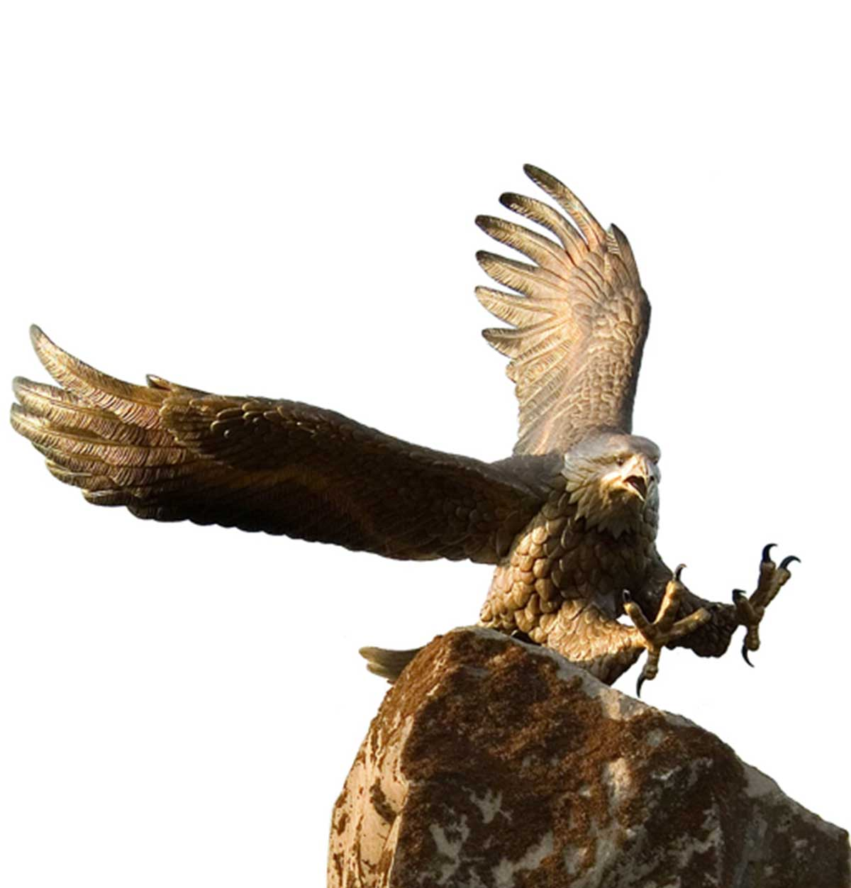 Caswell Bronze sculpture of the Guardian Sprit Eagle