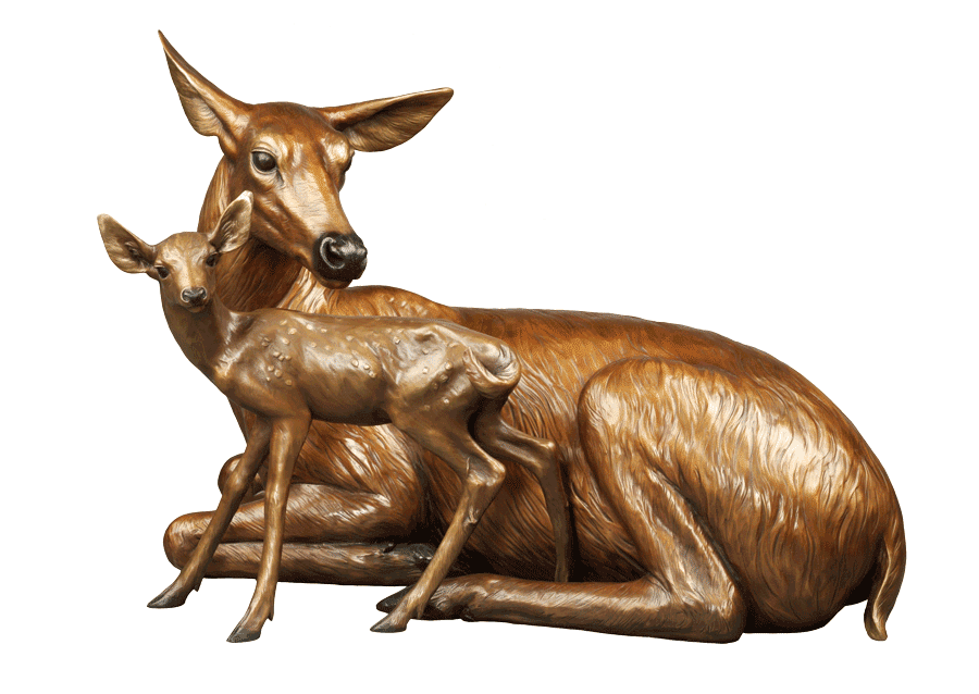 bronze wildlife statues USA