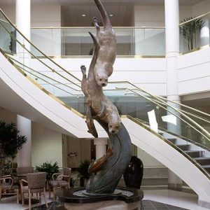 swift pursuit, otter, swimming, monument, bronze, brass, statue, figure, carving, metal statue, statue, form, sea otter, large art, vancouver, washington, park tower, park plaza, large statue, rip caswell, alison caswell, caswell sculpture, rip caswell sculptures, troutdale, oregon, abstract, Alison Caswell, animal, animals, architectural design, art, art collector, art foundry, art investment, art work, award winning art, awards, brass, brass figures, bronze, bronze foundry, bronze sculpture, bronze statue, carving, casting, Caswell, Caswell sculpture, collectable art, collection, conservation, contemporary, contemporary art, corporate art, corporate awards, decorating with art, deer, design, endangered, figurines, fine art, gallery art, historical art, home décor, human sculpture, impressionistic art, Jackson hole art, kitchen, landscape, life, life-size, limited edition, lost wax, medium, memorial, miniature, modern, Monument, national geographic, northwest art, northwest artist, Oregon artist, Oregon sculptors, outdoor art, outdoor sculpture, patina, patron of the arts, portrait, public art, rare, rare art, realism art, realistic art, red list, Rip Caswell, saving species, sculptor, sculptors, sculpture, statuary, statue, tax free art, top sculptors, traditional, Troutdale art, university mascots, urns, valuable art, western art, wild, Wildlife, firebird bronze foundry, wildlife statue, animal statue, animal sculpture, bronze animal art, bronze animal statue, bronze animal sculpture
