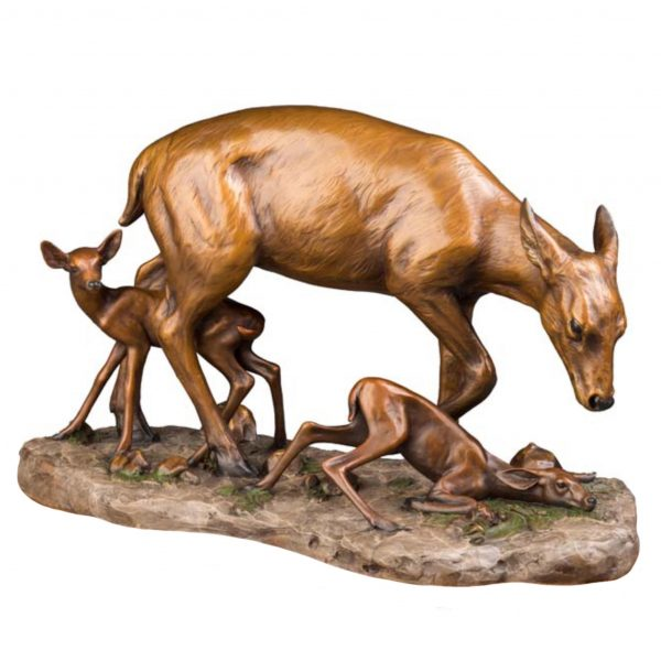 new beginnings doe fawn bronze caswell sculpture