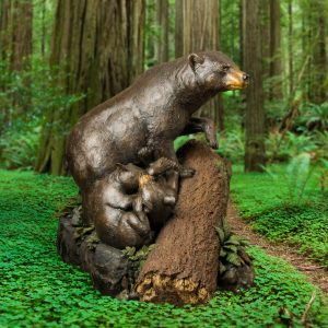 double trouble, black bear, black bears, cubs, mother and baby, statue, bronze, metal, casting, statue, figure, carving, brass, rip caswell, alison caswell, caswell sculpture, caswell bronze monument