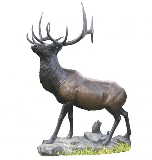 Exalted ruler elk bronze sculpture national geographic